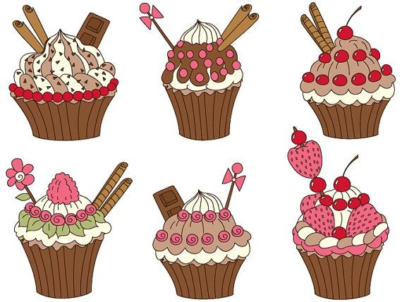 Chocolate clipart strawberry cupcake By Clipart ideas on TanitaArt