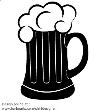 Beer clipart black and white White clipart clip art mug