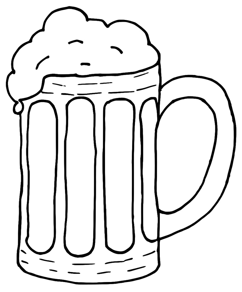 Drawn beer beer tankard #11