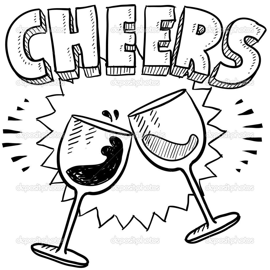 Mug clipart cheer #18320057 Vector — glass sketch