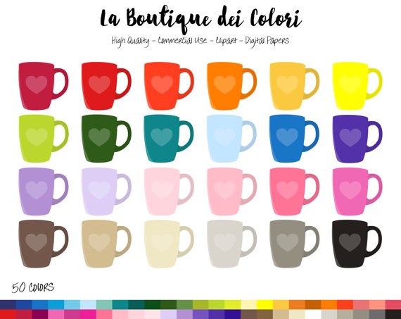 Mug clipart digital Art Planner from LaBoutiqueDeiColori PNG