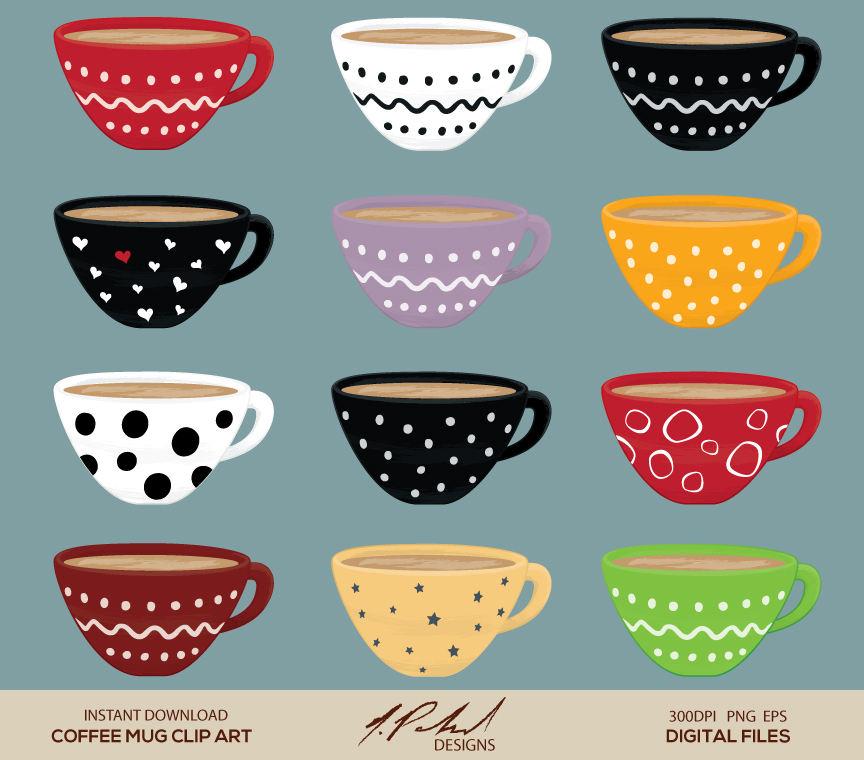 Mug clipart digital  Clip Mug Coffee a