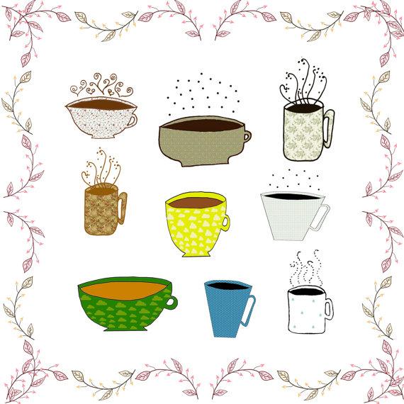 Mug clipart digital Tea images  papers coffee