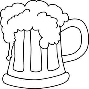 Beer clipart black and white Clip clipart clip art Mug