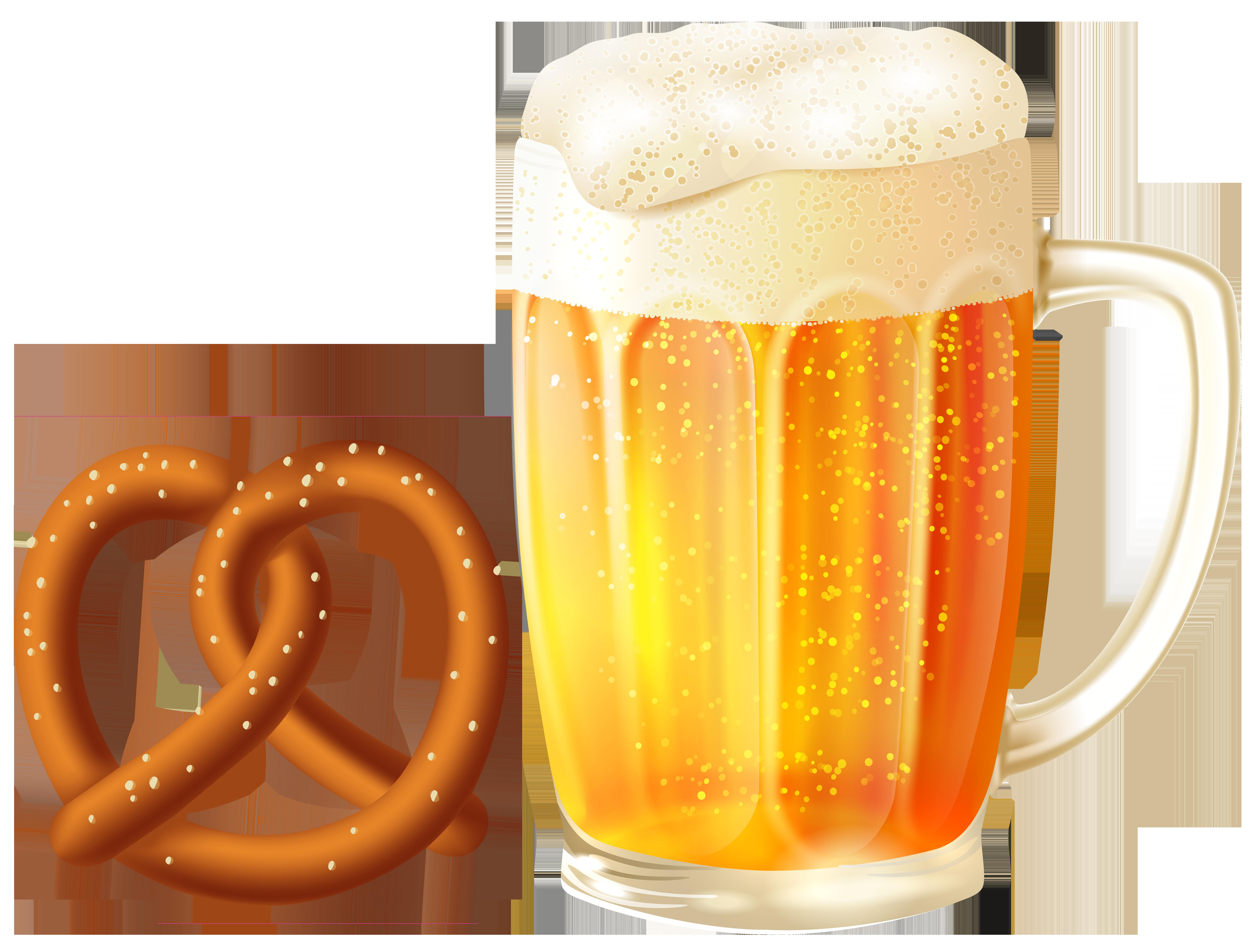 Mug clipart full cup PNG Beer size Clip Pretzel