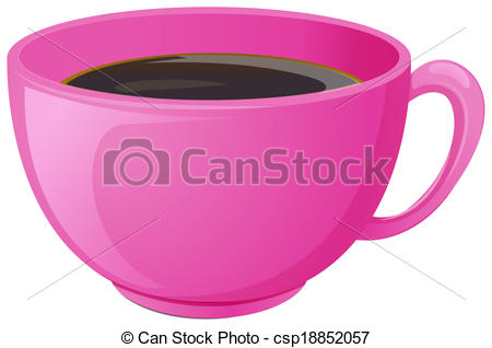Mug clipart pink Vector pink with csp18852057 with