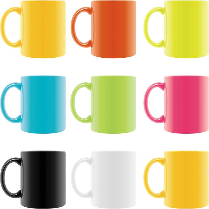 Mug clipart set objects For 2 set cups