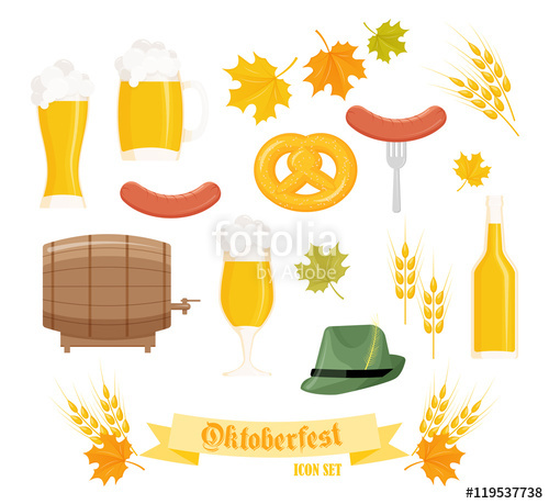 Mug clipart set objects Set objects glass vector detailed