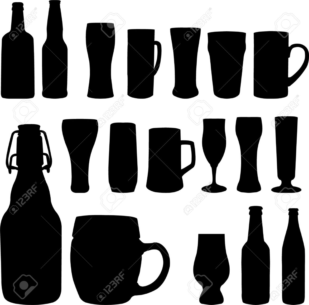 Beer clipart silhouette Beer Beer silhouette collection Clipart