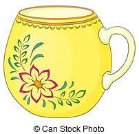 Mug clipart yellow Illustrations and pattern  a