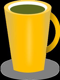 Mug clipart yellow Coffee  Domain Red Free