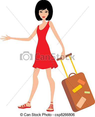 Mujer clipart Dres mujer  csp8266806 de