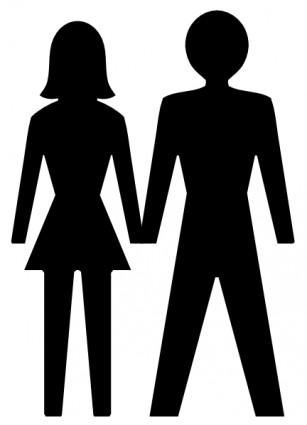 Mujer clipart Man Clipart Icono art Vector y vector