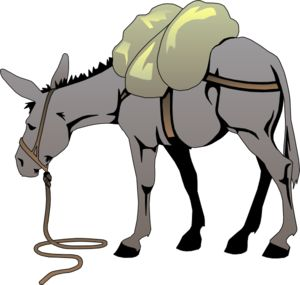 Moving clipart mule #1