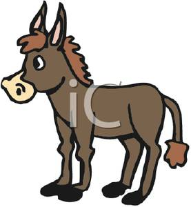 Moving clipart mule #3