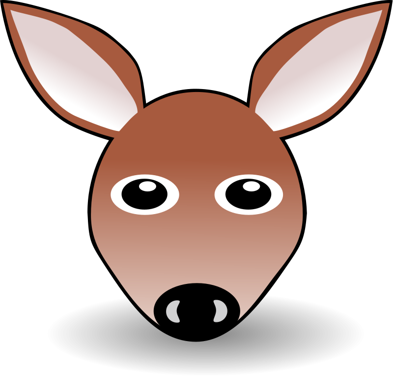Mule clipart face Vector on Art Free Brown