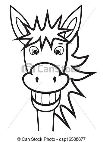 Mule clipart face Illustration and and donkey of