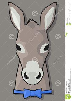 Mule clipart face Cartoon Google bowtie in donkey