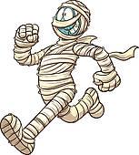 Mummy clipart Running Clip Royalty · Cartoon