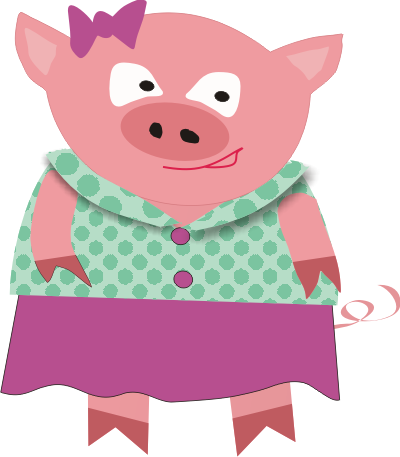Mommy clipart pig #1