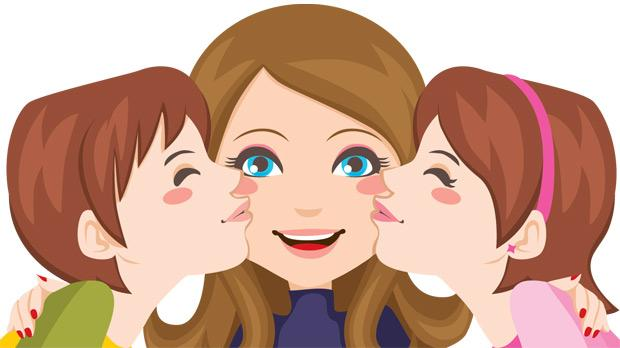 Kisses clipart mother and child Clipart Mummy collection baby and