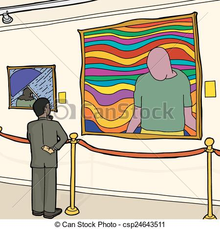 Museum clipart Man Museum Vector or of