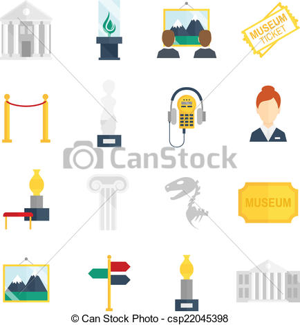 Museum clipart icon vector #12