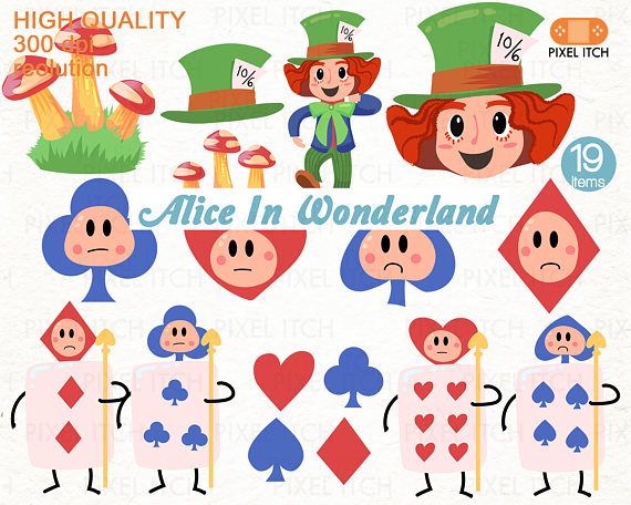 Mushroom clipart alice and wonderland Printable In Fairy Alice Clipart