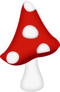 Mushroom clipart alice and wonderland ArtIllustratorsAppliques Mushroom The aw_puddle_mushroom red