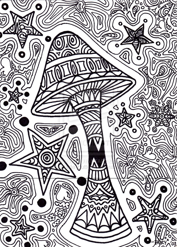 Mushroom clipart coloring book Razorblade Coloring Pages by deviantART