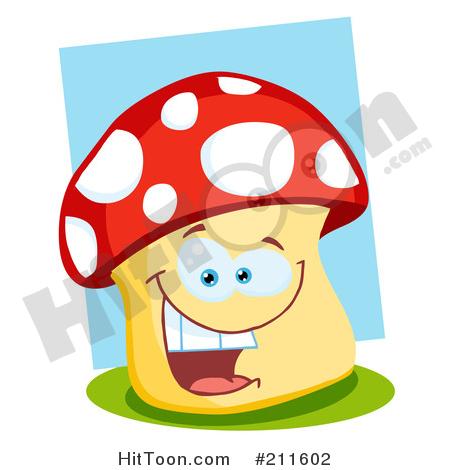 Mushroom clipart face #3
