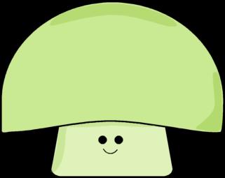 Mushroom clipart face #2