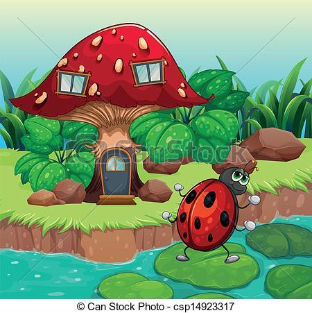Mushroom clipart insect Csp14923317 bug  house mushroom