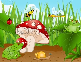 Mushroom clipart insect Protection Illustrations or right after