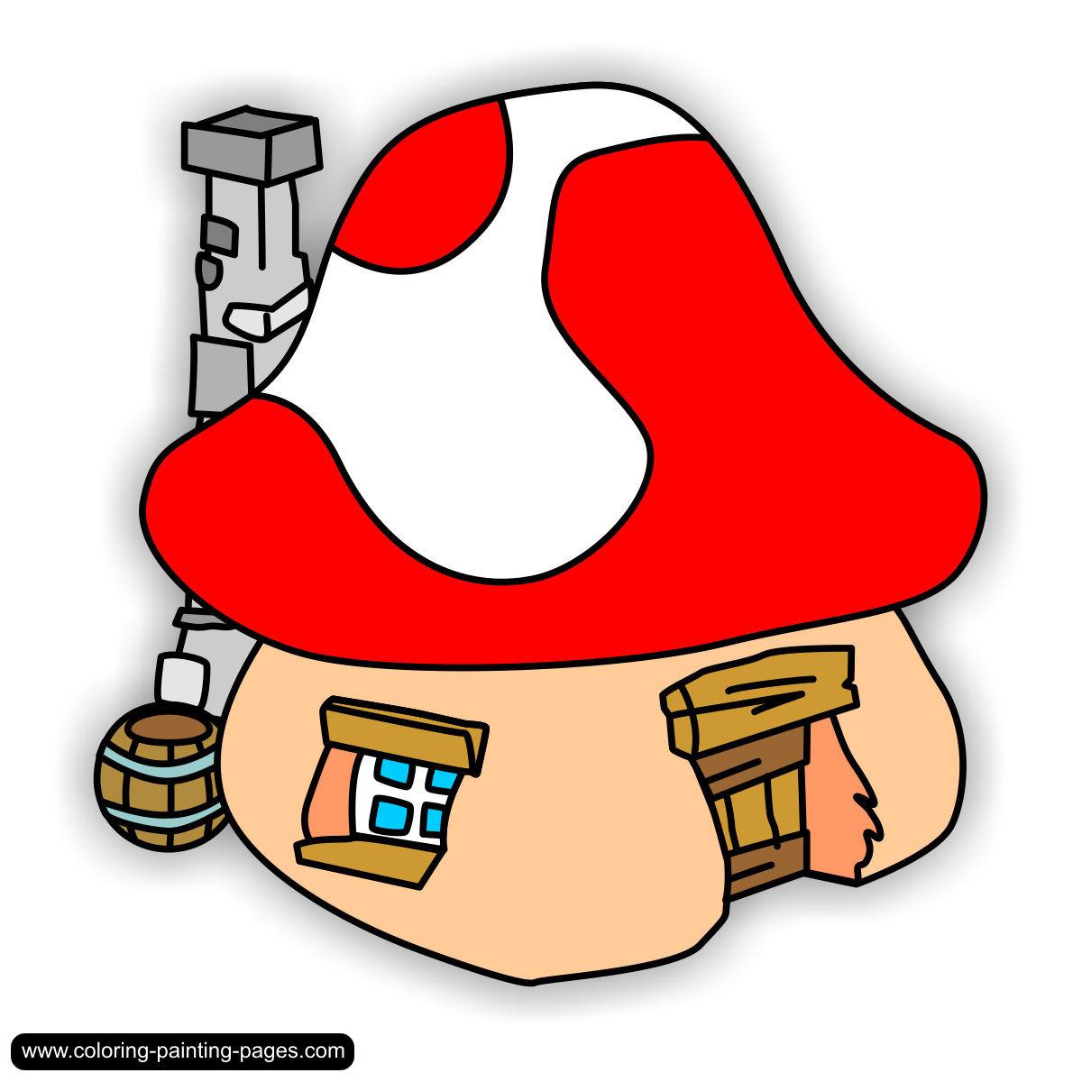 Mushroom clipart smurf Village houses Smurf Pinterest Village