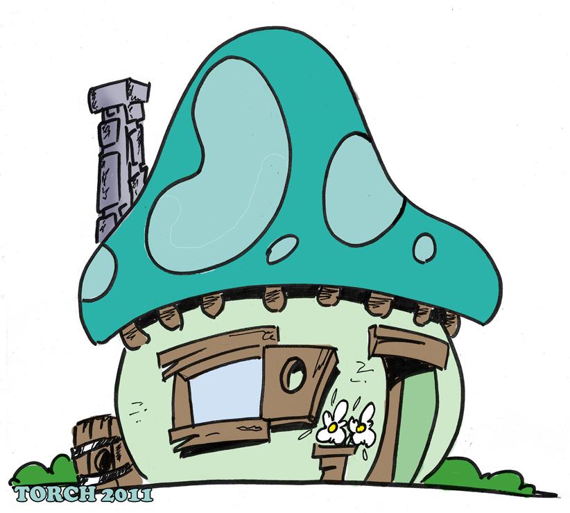 Mushroom clipart smurf  house l MUSHROOM l