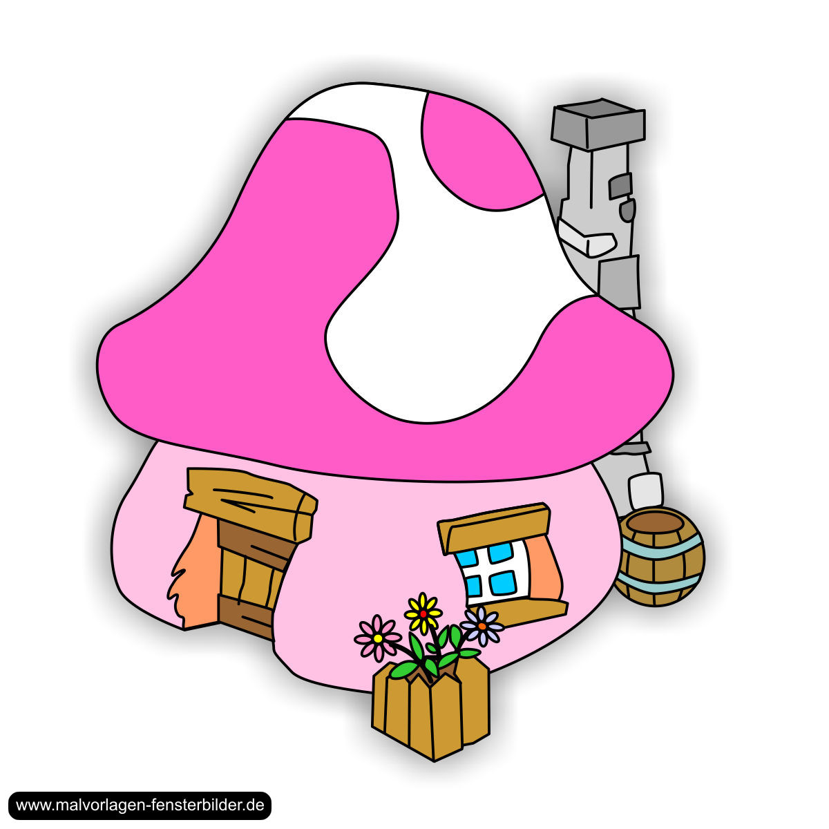 Mushroom clipart smurf Pinterest Smurfs jpg The Schlumpfhaus