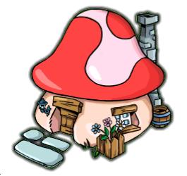 Mushroom clipart smurf Powered Smurfs smurf FANDOM Village