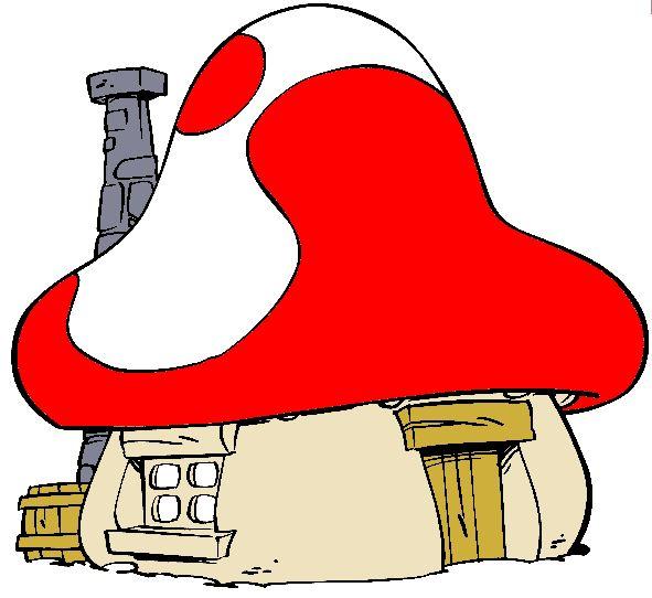 Mushroom clipart smurf Smurfs best Pinterest House 38