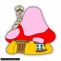 Mushroom clipart smurf Playhouse MUSHROOM l house mushroom