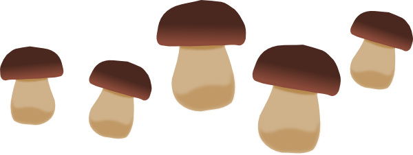 Mushroom clipart topping Brown Clker Download vector this