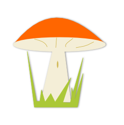 Mushroom clipart transparent background #13