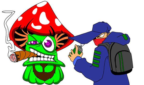 Mushroom clipart trippy #10