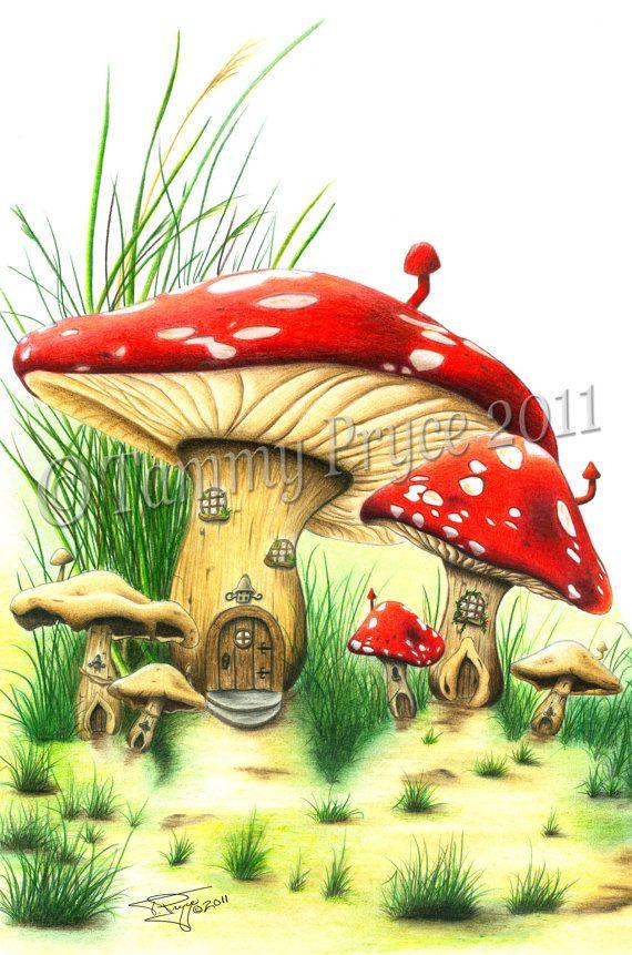 Mushroom clipart village Mushroom Shoes Tale best Art