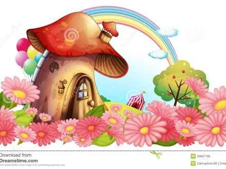 Mushroom clipart wallpaper Fairy Mushrooms flowers a garden