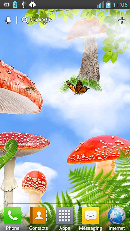 Mushroom clipart wallpaper Android HD Mushroom Wallpaper Mushroom