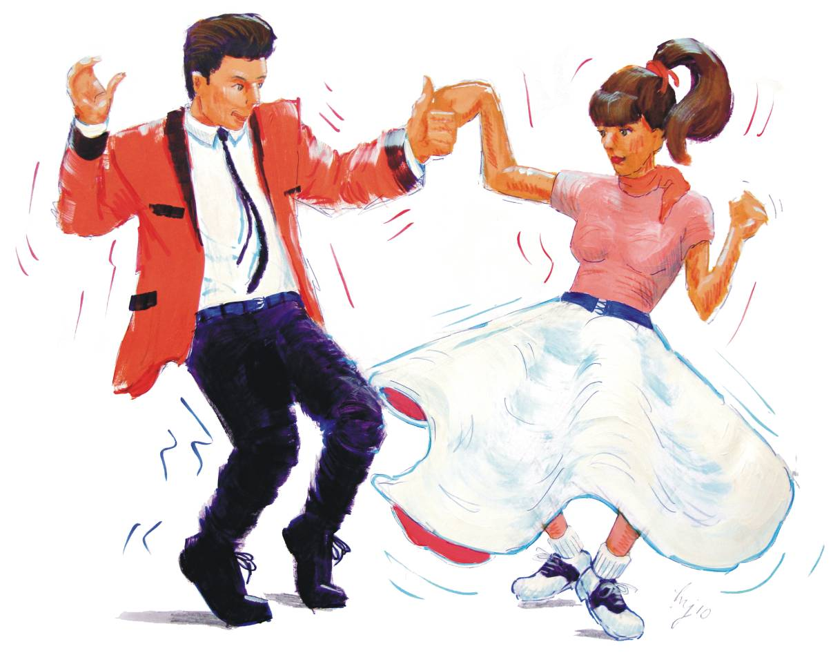 Danse clipart rock n roll Free Dancers Art Download Clipart