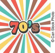 Reggae clipart 70's Vintage Vector Disc of art