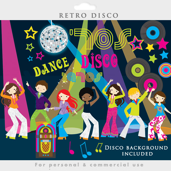 Disco clipart 70's Personal jukebox use and 1970s
