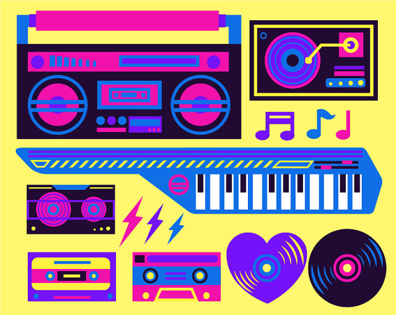 Neon clipart gas 80s Neon by Free Art